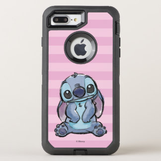 Capa Para iPhone 8 Plus/7 Plus OtterBox Defender Lilo & esboço do ponto de Stich  
