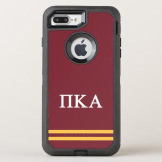Capa Para iPhone 8 Plus/7 Plus OtterBox Defender Listra do esporte do alfa | do Kappa do Pi