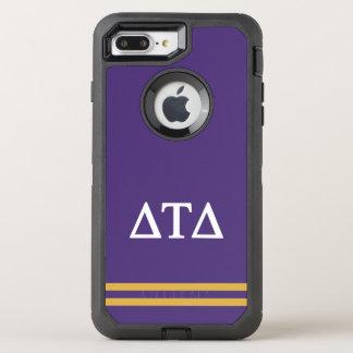 Capa Para iPhone 8 Plus/7 Plus OtterBox Defender Listra do esporte do delta | da tau do delta