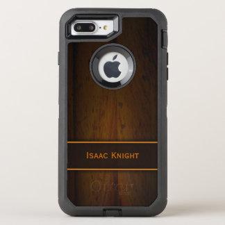 Capa Para iPhone 8 Plus/7 Plus OtterBox Defender Madeira de pinho Báltico de madeira do falso viril