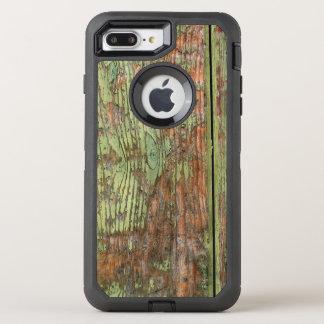 Capa Para iPhone 8 Plus/7 Plus OtterBox Defender Madeira verde gasta e resistida do celeiro