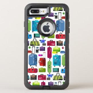 Capa Para iPhone 8 Plus/7 Plus OtterBox Defender Malas de viagem de néon