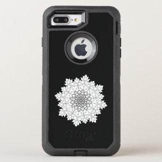 Capa Para iPhone 8 Plus/7 Plus OtterBox Defender Mandala da flor. Elementos decorativos do vintage