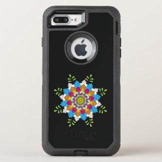 Capa Para iPhone 8 Plus/7 Plus OtterBox Defender Mandalas da flor. Elementos decorativos do