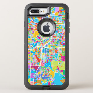 Capa Para iPhone 8 Plus/7 Plus OtterBox Defender Mapa colorido de Atlanta