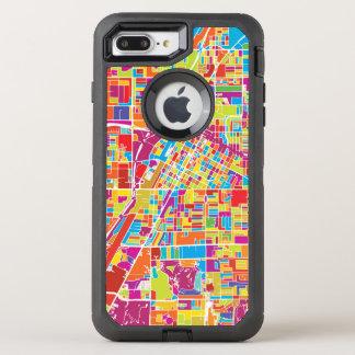 Capa Para iPhone 8 Plus/7 Plus OtterBox Defender Mapa de Las Vegas colorido, Nevada