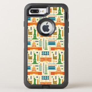 Capa Para iPhone 8 Plus/7 Plus OtterBox Defender Marcos dos Estados Unidos da América