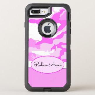 Capa Para iPhone 8 Plus/7 Plus OtterBox Defender Máscaras e modelo cor-de-rosa da camuflagem do