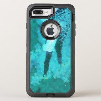 Capa Para iPhone 8 Plus/7 Plus OtterBox Defender Mergulhador e bolhas de mergulhador