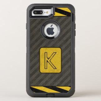 Capa Para iPhone 8 Plus/7 Plus OtterBox Defender Monograma industrial do Grunge