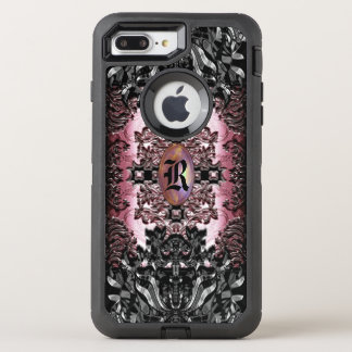 Capa Para iPhone 8 Plus/7 Plus OtterBox Defender Monograma original barroco do chique do gótico de
