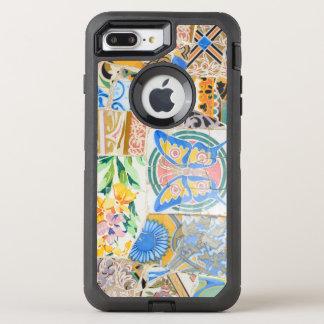 Capa Para iPhone 8 Plus/7 Plus OtterBox Defender Mosaicos de Guell do parque