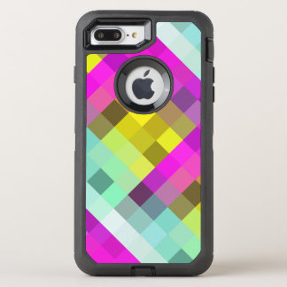 Capa Para iPhone 8 Plus/7 Plus OtterBox Defender Néon legal & popular teste padrão de mosaico