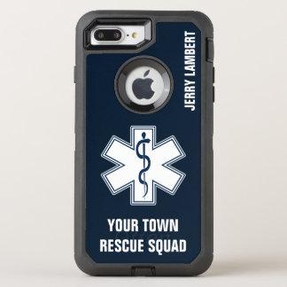 Capa Para iPhone 8 Plus/7 Plus OtterBox Defender Nome e pelotão do paramédico de EMT EMS