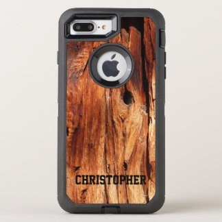 Capa Para iPhone 8 Plus/7 Plus OtterBox Defender O falso resiste ao iPhone de madeira 7 do defensor