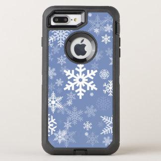 Capa Para iPhone 8 Plus/7 Plus OtterBox Defender O gráfico dos flocos de neve personaliza o fundo