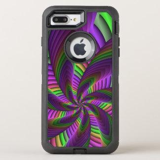 Capa Para iPhone 8 Plus/7 Plus OtterBox Defender O néon colore o teste padrão colorido louco