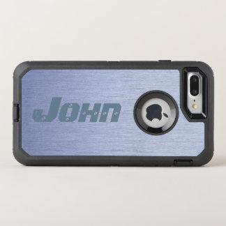 Capa Para iPhone 8 Plus/7 Plus OtterBox Defender Olhar preto & de aço inoxidável moderno