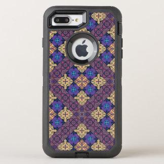 Capa Para iPhone 8 Plus/7 Plus OtterBox Defender Ornamento de talavera do mosaico do vintage