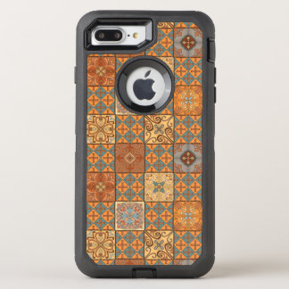Capa Para iPhone 8 Plus/7 Plus OtterBox Defender Ornamento de talavera do mosaico do vintage