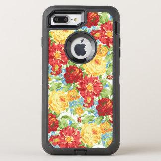 Capa Para iPhone 8 Plus/7 Plus OtterBox Defender Otterbox positivo do iPhone 7 florais bonitos do