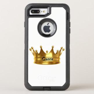 Capa Para iPhone 8 Plus/7 Plus OtterBox Defender Ouro da rainha & caixa branca de Otterbox