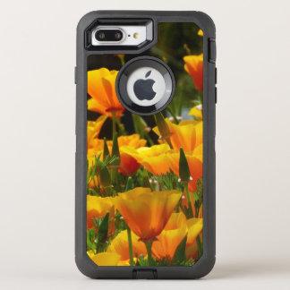 Capa Para iPhone 8 Plus/7 Plus OtterBox Defender Papoilas de Califórnia alaranjadas
