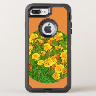 Capa Para iPhone 8 Plus/7 Plus OtterBox Defender Papoilas de Califórnia alaranjadas 2.2_rd