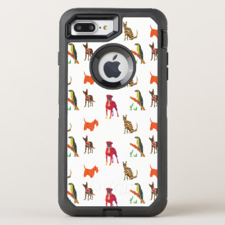 Capa Para iPhone 8 Plus/7 Plus OtterBox Defender Parada da chihuahua bonito Scotty Toucan do