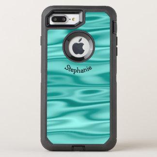Capa Para iPhone 8 Plus/7 Plus OtterBox Defender Personalize o nome arqueado - tecido do cetim do