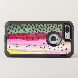 Capa Para iPhone 8 Plus/7 Plus OtterBox Defender Pesca da pele da truta de arco-íris