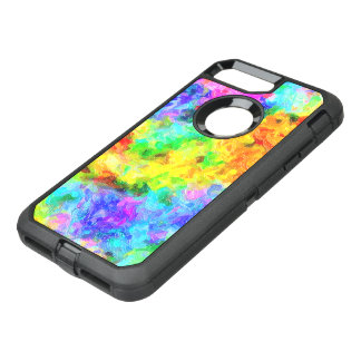 Capa Para iPhone 8 Plus/7 Plus OtterBox Defender Pintura do arco-íris