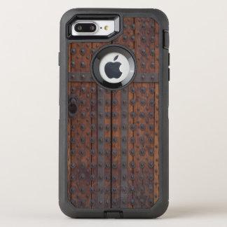 Capa Para iPhone 8 Plus/7 Plus OtterBox Defender Porta de madeira velha com reforços pretos do