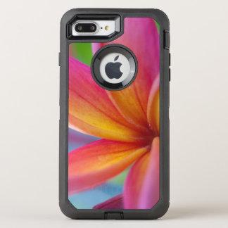 Capa Para iPhone 8 Plus/7 Plus OtterBox Defender Profundo amarelo alaranjado - flor tropical