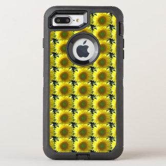 Capa Para iPhone 8 Plus/7 Plus OtterBox Defender Repetindo girassóis