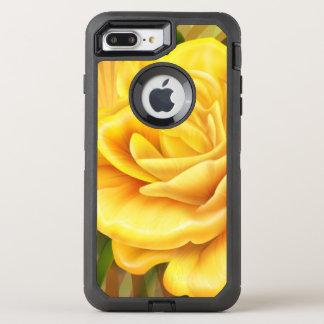 Capa Para iPhone 8 Plus/7 Plus OtterBox Defender rosa amarelo lindo