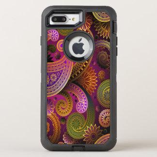 Capa Para iPhone 8 Plus/7 Plus OtterBox Defender Roxo de Paisley