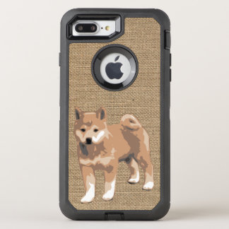 Capa Para iPhone 8 Plus/7 Plus OtterBox Defender Serapilheira do falso com caso do ano 2018 do cão