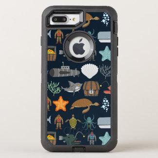 Capa Para iPhone 8 Plus/7 Plus OtterBox Defender Teste padrão 1 dos habitantes do oceano