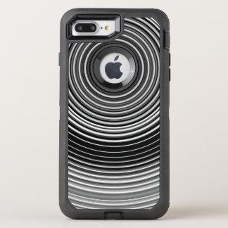 Capa Para iPhone 8 Plus/7 Plus OtterBox Defender Teste padrão à moda preto e branco contemporâneo