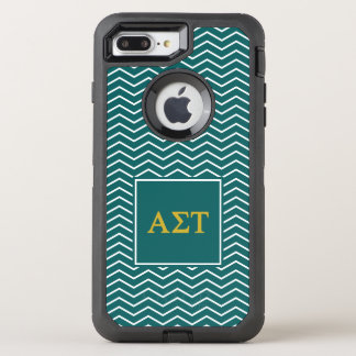 Capa Para iPhone 8 Plus/7 Plus OtterBox Defender Teste padrão alfa da tau | Chevron do Sigma