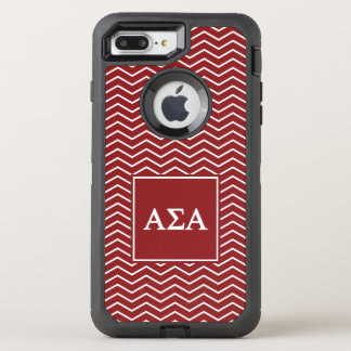 Capa Para iPhone 8 Plus/7 Plus OtterBox Defender Teste padrão alfa do alfa | Chevron do Sigma