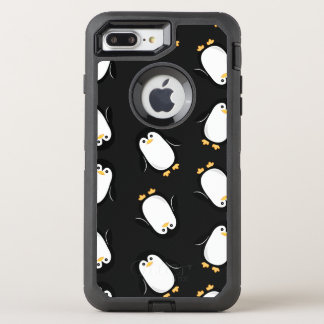 Capa Para iPhone 8 Plus/7 Plus OtterBox Defender Teste padrão bonito dos pinguins