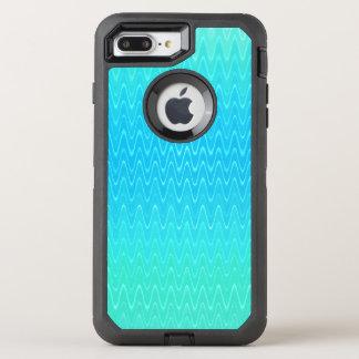 Capa Para iPhone 8 Plus/7 Plus OtterBox Defender Teste padrão do abstrato do verde azul da cerceta