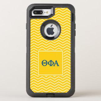 Capa Para iPhone 8 Plus/7 Plus OtterBox Defender Teste padrão do alfa | Chevron da phi da teta