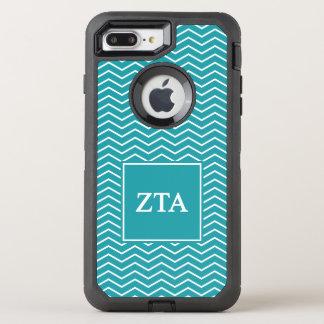 Capa Para iPhone 8 Plus/7 Plus OtterBox Defender Teste padrão do alfa   Chevron da tau do Zeta