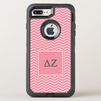 Capa Para iPhone 8 Plus/7 Plus OtterBox Defender Teste padrão do Zeta | Chevron do delta