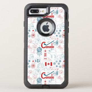 Capa Para iPhone 8 Plus/7 Plus OtterBox Defender Teste padrão dos símbolos de Canadá |