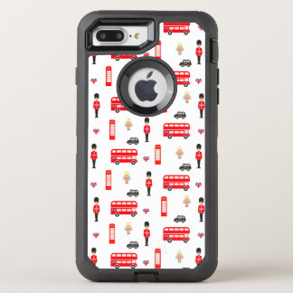Capa Para iPhone 8 Plus/7 Plus OtterBox Defender Teste padrão dos símbolos de Inglaterra