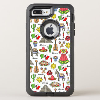 Capa Para iPhone 8 Plus/7 Plus OtterBox Defender Teste padrão dos símbolos de México  